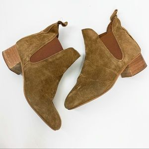 •Topshop• Barley Suede Chelsea Ankle Boot Tan
